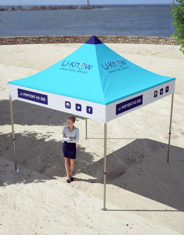 POPTENT HS 300  Tente résistante Acier 3x3m